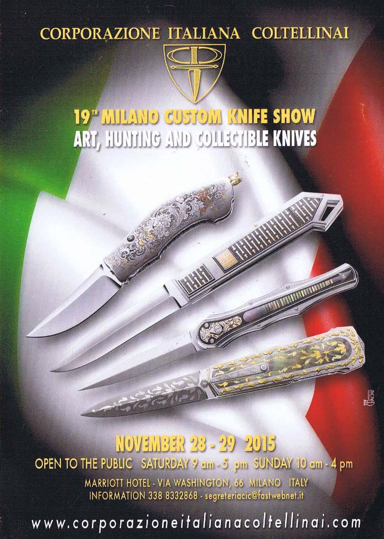 Salon du couteau d 39 art milan couteaux lou creuse for Salon du couteau paris
